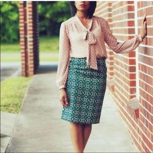 J. Crew Medallion Pencil Skirt